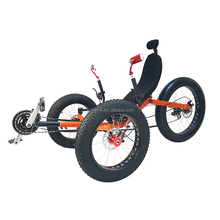 Wholesale Outdoor Pedal Leisure Adults Mountain Beach Sporting Big Powered Fat Bike Electric Recumbent Tricycle With 250W