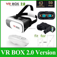 Hot Adjust Google Cardboard VR Box II 2.0 Virtual Reality Headset 3D Glasses Oculus Rift DK2+ Bluetooth Remote Controller