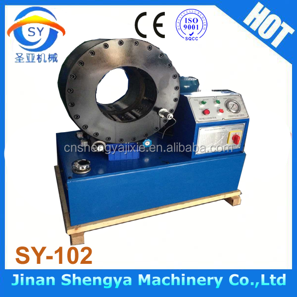 "SY-102 New tybe 6"" high pressure hose pipe press crimping machine"