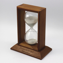 Square Wood Custom Made 15 Minute Sand Timer Hourglass Souvenirs