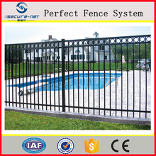 Black powder coated security backyard metal Wrought Iron steel picket fence