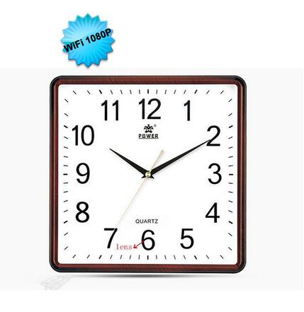 1080P Full HD Wireless Wall Clock Pinhole DVR Clock Video Recorder Home Security Camera Wifi Wall Clock Hidden Camera