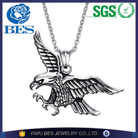 Mens Necklaces Stainless Steel Flying Eagle Pendant Choker Male Hip Hop Biker Fashion Animal Jewelry Costume Accessorie