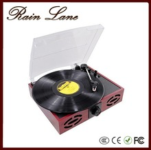 Rain Lane Retro Turntable Player Phonograph Record Player For Sale With 3 Speed Turntable AM/FM Stereo Radio