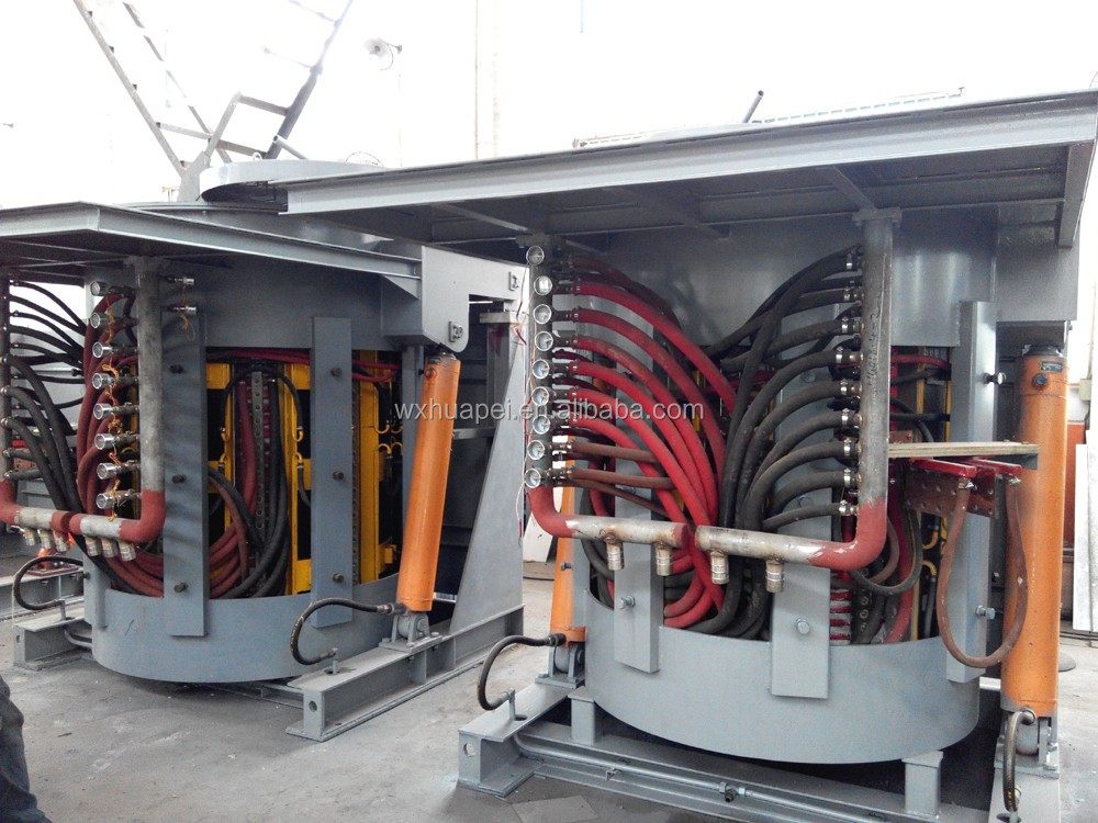 250kg Intermediate Frequency aluminium melting Furnace