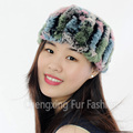 CX-E-37C Real Rex Rabbit Fur Neck Warmer & Cheap Elastic Headband