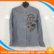 Factory wholesale plus size only ladies blouse design