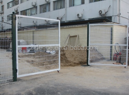 Wire mesh fence metal fence gate