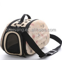 Wholesale factory OEM/ODM EVA fashion design lightweight top quality cheap folding carrier dog cat pet hot transport bags