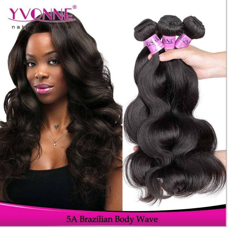 Top quality body wave brazilian hair weft hair extensions (no shedding no tangle)