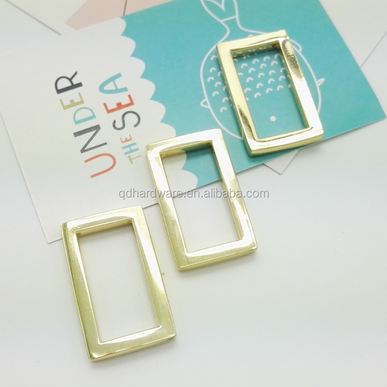 Factory supply metal square ring buckle for bag and handbag hardware wholesale
