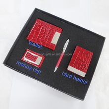 4 in 1 leather pen gift set for business use