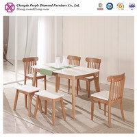 Modern kitchen designs kitchen table set natural wood dining table and chair