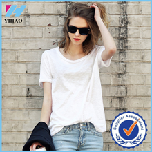 Yihao Fashion Women net tops Summer short Sleeve T-shirts Casual Cotton Shirt Blouse ladies plain crop top