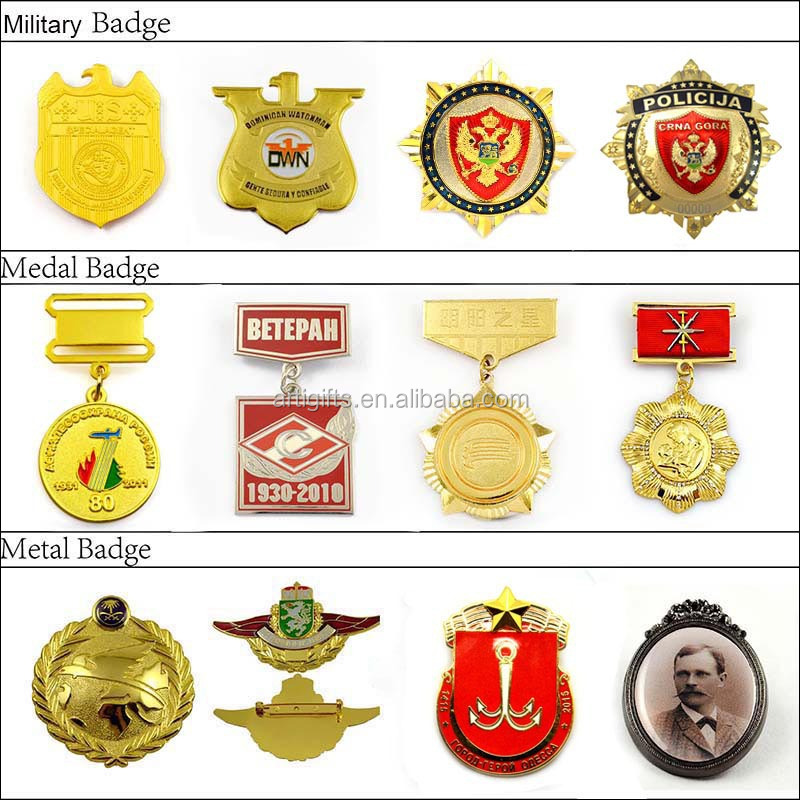 china supplier metal military badge medal