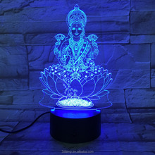 3D LED Night Light With USB Touch Table Lamp as Decoration Christmas Holiday Lights Four hand figures Good Luck Deco Gift