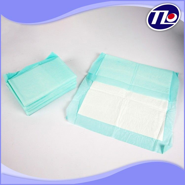 Super absorbent training puppy pad with plastic bottom sheet to prevent leaking