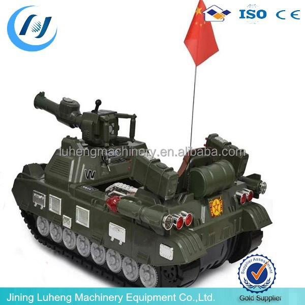 Large plastic toy tank car kids car ride on toy made in China