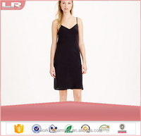 Wholesale Women's Cheap Silk Dress Sexy Sleeveless Nightgown