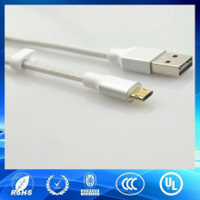 novel style reversible micro usb cable sliver usb2.0 5pin cable