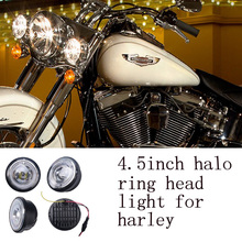 Fine good sell high quality 3000LM 4.5 inch motorcycle led head light for harley