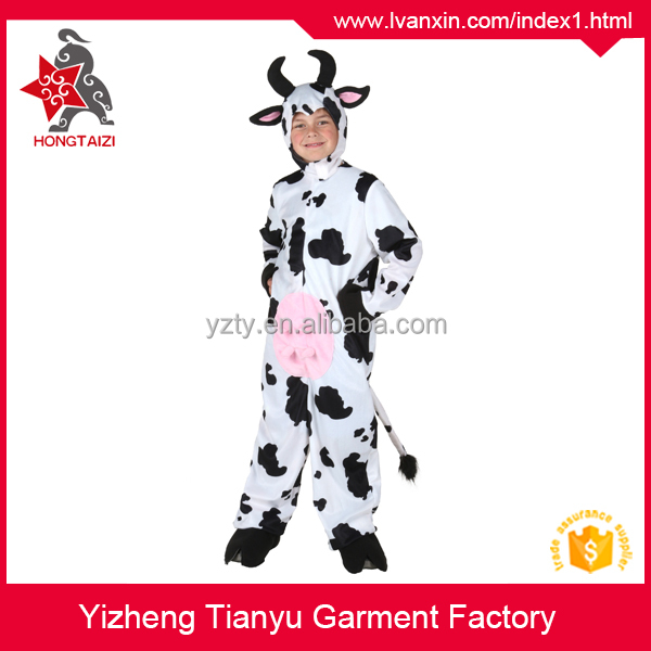 Plush animal costume for kids, child cow costume, kids zebra costume