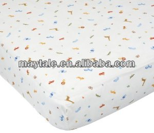 100% cotton baby fitted cot sheet