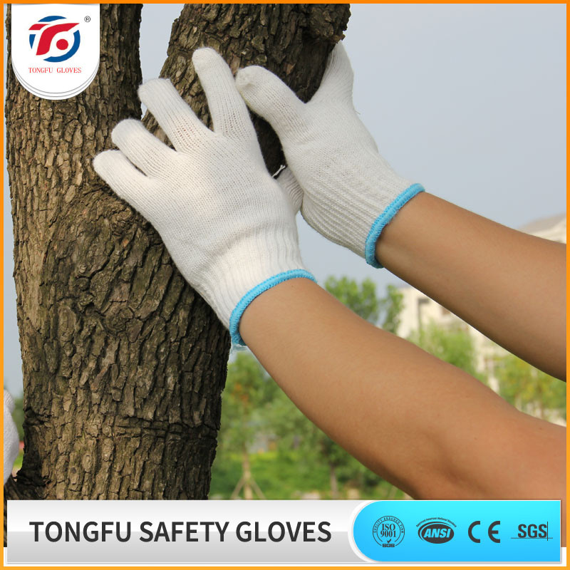natural white cotton working garden hand glove