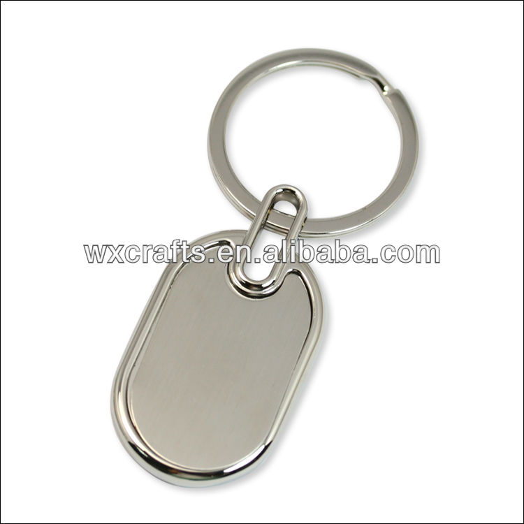 oval metal blank key tags