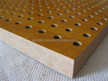 wood perforated acoustic panel sound absorption panel for recording room