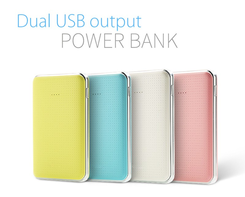 consumer market smart power bank 8000mah for smartphone dual USB output