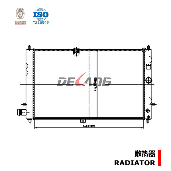 mechanical radiator factory for GM OE 52281240 DL-A092