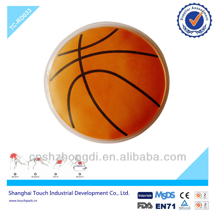 Reusable And Non- Toxic Heat Pad Hand Warmer With Basket Ball Print