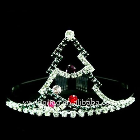 Cute Mini Crown Hair Christmas Diadems Tiara For Kids