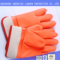 High Quality China Flourescent Pvc Anti-Cold Glove For Winter
