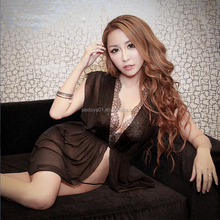 Most Popular Mature Black Lace Asian Babydoll Sexy Adult Lingerie