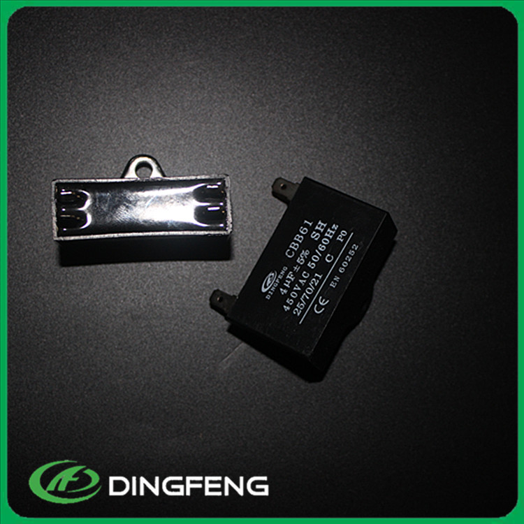 Ceiling fan capacitor 450v 4pins black resin in