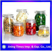 airless clear glass jar storage jar candy jar with clip