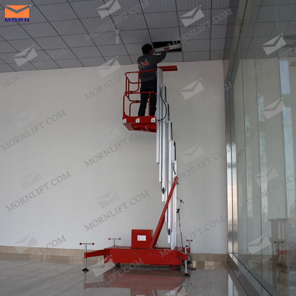 Mobile aluminum man lift/electric lift ladder