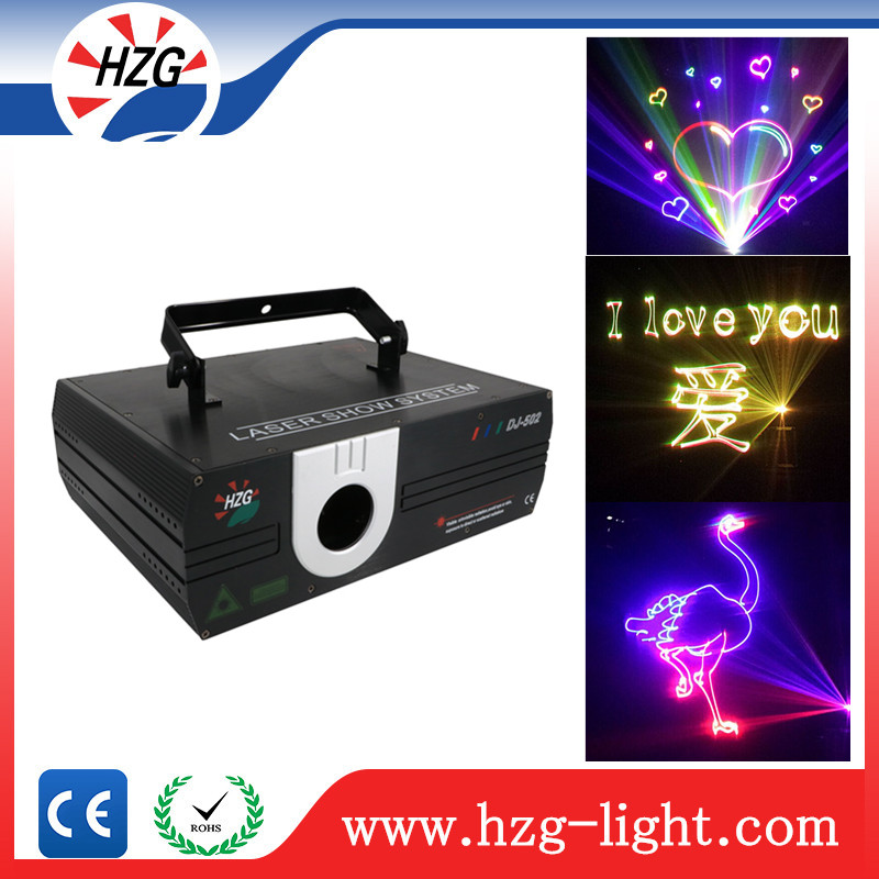 Night club sound system multi line laser 1W / 2W RGB laser light show equipment for sale
