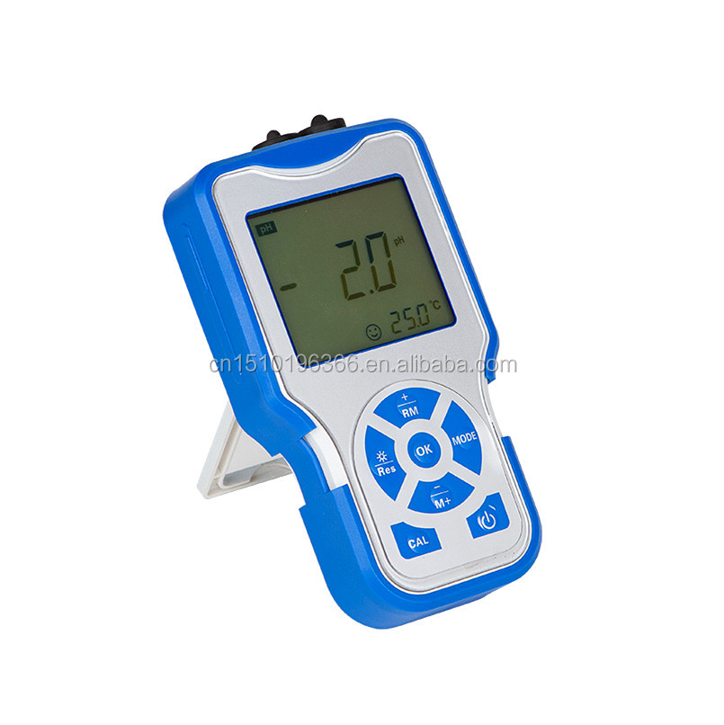 Portable pH Meter for Liquid mV Temperature pH Testing in Laboratory
