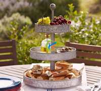 Party 3 Tier galvanized metal food tray
