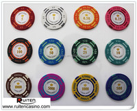 14g US Value Montecarlo Clay Chips Casino Poker Chip