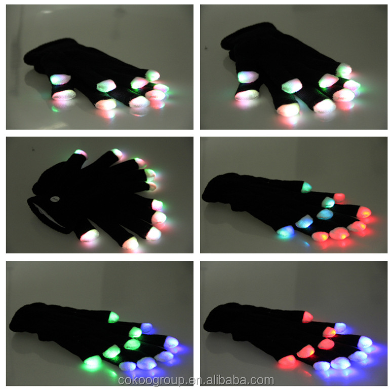 led gloves as gifts/China Wholesale Party Supplies Led Finger Light Glove / Led Glove Light