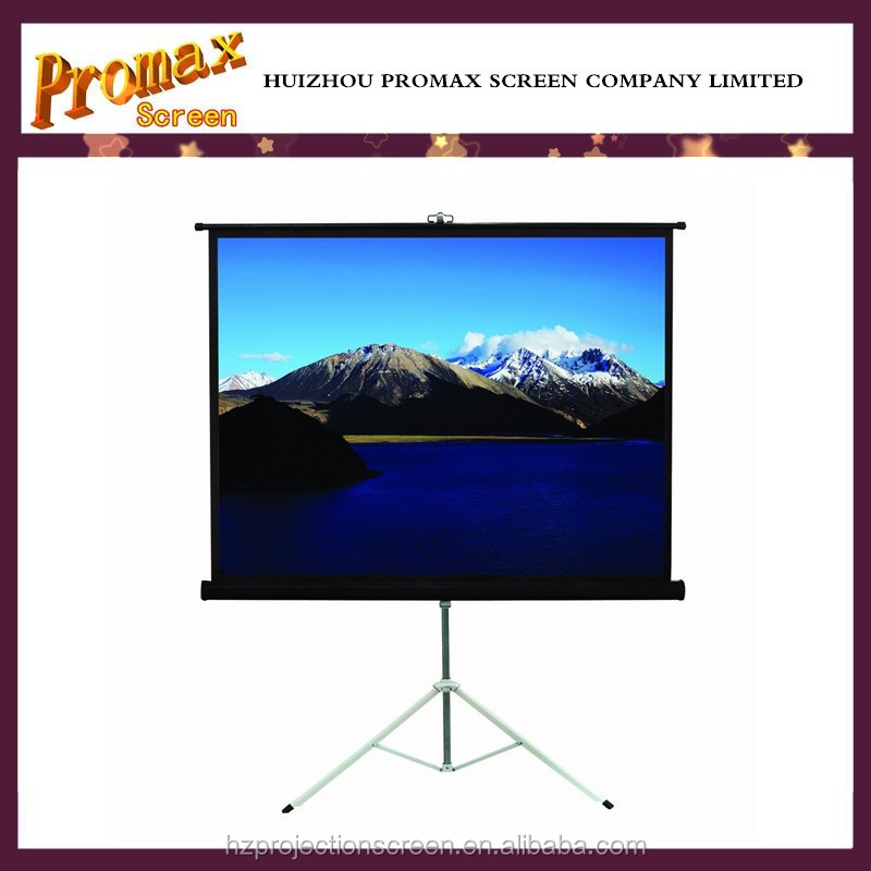 "Promax easy carry steel tripod standing 84"" video projection screen"