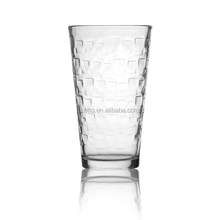 16oz embossed glass juice /water /milk /drink tumbler glass cups