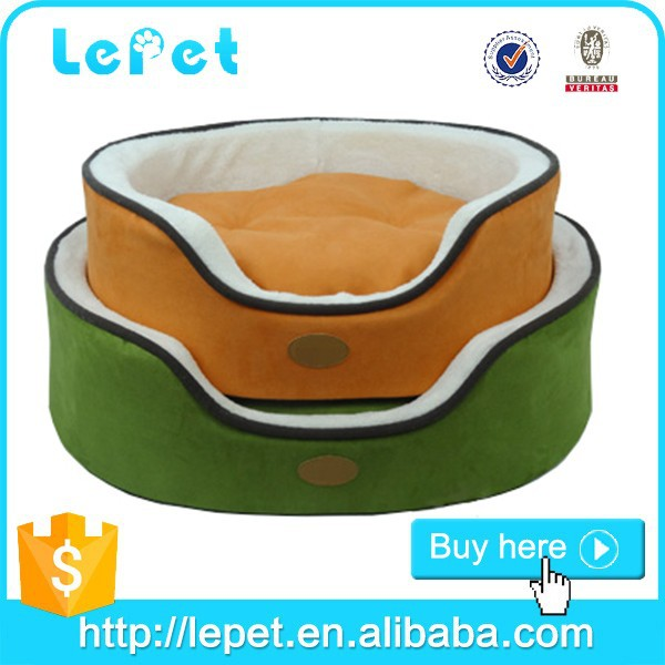 manufacturer wholesale soft and warm cozy round plush dog bed