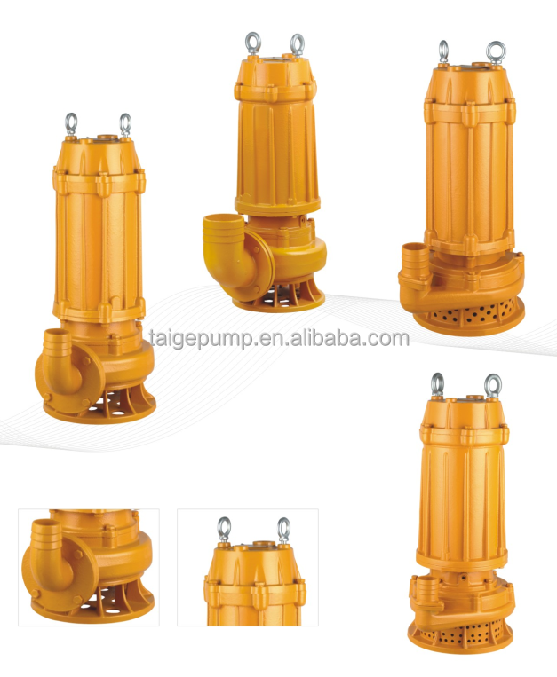 Single-stage Single-suction No-blocking Centrifugal Submersible Pump 7.5HP
