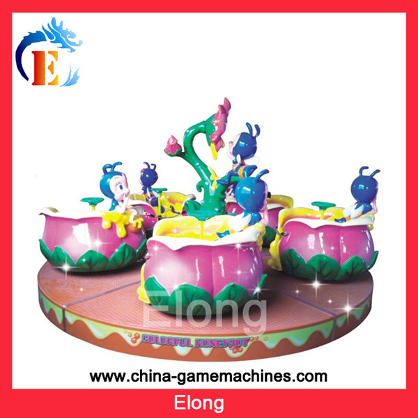 Cute little bee best price of kiddie mini electric carousel ride amusement park rides bees play equipment