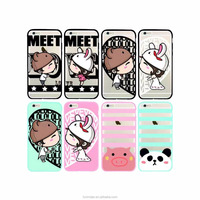 Wholesale cute Animal Pattern TPU PC Cover Mobile Phone Case for Apple iPhone 7 iPhone6 6s plus case